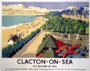 Clacton-On-Sea, Essex.  English Railway Travel Poster Print by Frank Newbould